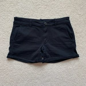 American Eagle Black Midi Shorts!